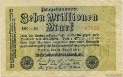 10 Millions Mark ALLEMAGNE  1923 P.106a TB