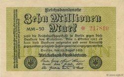 10 Millions Mark ALLEMAGNE  1923 P.106a SPL+