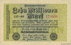 10 Millions Mark ALLEMAGNE  1923 P.106b SUP+