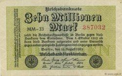 10 Millions Mark ALLEMAGNE  1923 P.106d SPL