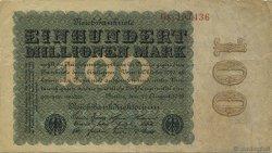100 Millions Mark ALLEMAGNE  1923 P.107a TTB