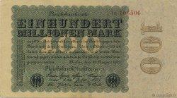 100 Millions Mark ALLEMAGNE  1923 P.107a SUP+