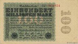100 Millions Mark ALLEMAGNE  1923 P.107c SUP+