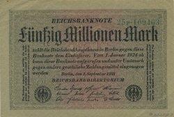 50 Millions Mark ALLEMAGNE  1923 P.109a pr.SUP