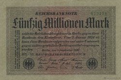 50 Millions Mark ALLEMAGNE  1923 P.109a SUP