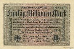 50 Millions Mark ALLEMAGNE  1923 P.109c