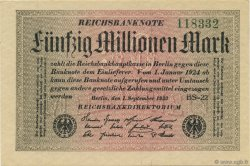 50 Millions Mark ALLEMAGNE  1923 P.109d pr.NEUF