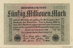 50 Millions Mark ALLEMAGNE  1923 P.109e pr.NEUF
