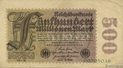 500 Millions Mark ALLEMAGNE  1923 P.110d pr.SUP