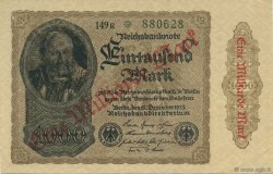 1 Milliard Mark ALLEMAGNE  1923 P.113c pr.SPL