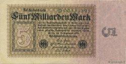 5 Milliards Mark ALLEMAGNE  1923 P.115a TTB