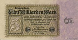 5 Milliards Mark ALLEMAGNE  1923 P.115a SUP