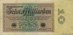 10 Milliards Mark ALLEMAGNE  1923 P.116a TTB
