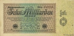 10 Milliards Mark ALLEMAGNE  1923 P.116a TTB+