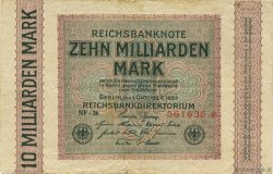 10 Milliards Mark ALLEMAGNE  1923 P.117a TB+