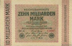 10 Milliards Mark ALLEMAGNE  1923 P.117e SUP