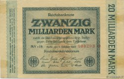 20 Milliards Mark ALLEMAGNE  1923 P.118a TTB+