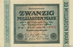 20 Milliards Mark ALLEMAGNE  1923 P.118a SPL