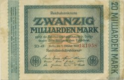 20 Milliards Mark ALLEMAGNE  1923 P.118c TTB