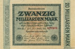 20 Milliards Mark ALLEMAGNE  1923 P.118c SUP