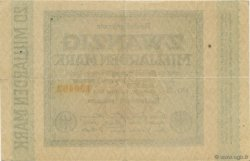 20 Milliards Mark ALLEMAGNE  1923 P.118e TTB+