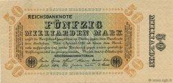50 Milliards Mark ALLEMAGNE  1923 P.119c pr.SUP