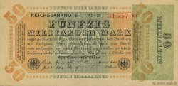 50 Milliards Mark  ALLEMAGNE  1923 P.120a SUP