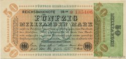 50 Milliards Mark ALLEMAGNE  1923 P.120b SUP+