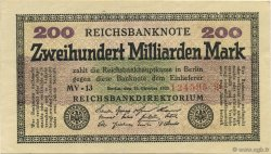 200 Milliards Mark ALLEMAGNE  1923 P.121a SUP+