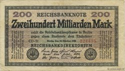 200 Milliards Mark ALLEMAGNE  1923 P.121b TTB