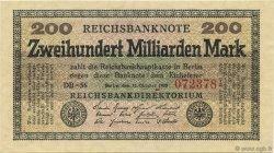 200 Milliards Mark ALLEMAGNE  1923 P.121b pr.NEUF