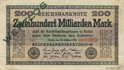 200 Milliards Mark ALLEMAGNE  1923 P.121bs SUP+