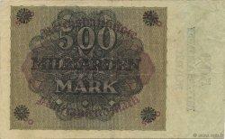 500 Milliard Mark ALLEMAGNE  1923 P.124a TTB+