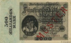 500 Milliard Mark ALLEMAGNE  1923 P.124as SUP+