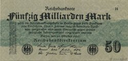 50 Milliards Mark ALLEMAGNE  1923 P.125a TTB+