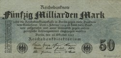 50 Milliards Mark ALLEMAGNE  1923 P.125a TB+