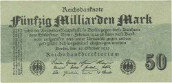 50 Milliards Mark ALLEMAGNE  1923 P.125b SUP+