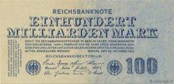 100 Milliards Mark ALLEMAGNE  1923 P.126 pr.NEUF