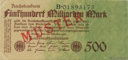 500 Milliard Mark ALLEMAGNE  1923 P.127as SUP+