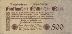 500 Milliard Mark ALLEMAGNE  1923 P.127b TTB
