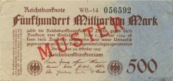 500 Milliard Mark ALLEMAGNE  1923 P.127bs SUP+