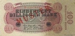100 Billions Mark ALLEMAGNE  1923 P.128s SUP+