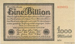 1 Billion Mark ALLEMAGNE  1923 P.134 SUP