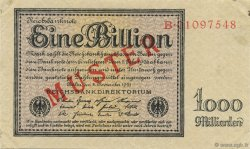 1 Billion Mark ALLEMAGNE  1923 P.134s SPL