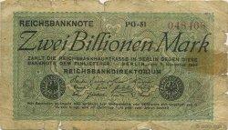2 Billions Mark ALLEMAGNE  1923 P.135a B