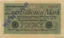 2 Billions Mark ALLEMAGNE  1923 P.135as SPL