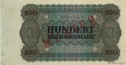 100 Billions Mark ALLEMAGNE  1924 P.140s SUP+