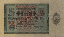 5 Billions Mark ALLEMAGNE  1924 P.141s SUP+