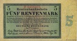 5 Rentenmark ALLEMAGNE  1923 P.163 TTB