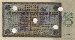 50 Rentenmark ALLEMAGNE  1923 P.165s SPL